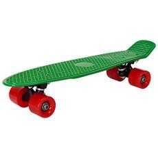 Skateboard Mini (57 X 15 X 12 Cm) (abec 7 - Cuscinetti A Sfera) (verde - Rosso) Skateboard Per Bambini / Tavola Vintage Penny