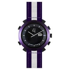 Smartwatch Classic in Nylon Impermeabile Bluetooth compatibile con Android e iOS - Viola