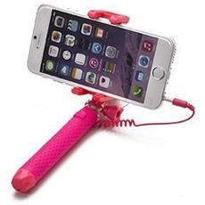 """Mini Selfie Stick compatibile con smartphone fino a 5.5"""" per una lunghezza massima di 70cm - Rosa"""