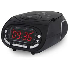 Ahb2029 Radio Sveglia Digitale Lettore Cd Radio Fm Doppio Allarme