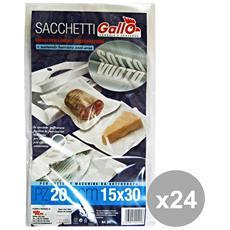 Set 24 Sacchi Sottovuoto 15x30 X 20 Pezzi Contenitori Per La Cucina