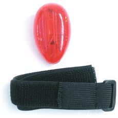 Fanalino Di Sicurezza A 2 Led Con Fascia Regolabile Rosso Nero Taglia Unica