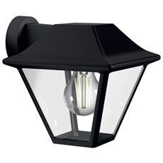 Alpenglow Lampada da Parete da Esterno con Supporto a Muro Colore Nero