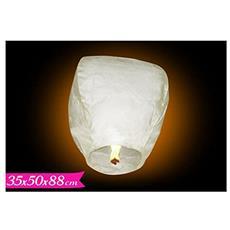 Lanterna cinese dei desideri bianca mongolfiera volante set da 5 pezzi.