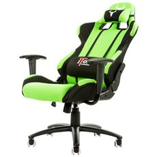 Gaming Chair Taurus S1 - Tessuto, Doppio Cuscino, Nero Verde