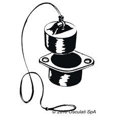 Tappo gommoni con valvola 36 mm