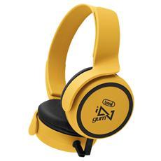 Cuffie Stereo Gum Con Microfono Dj 673 M Giallo