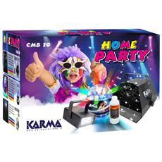 CMB Kit Home Party Macchina Bolle di Sapone e Lampada Stroboscopica
