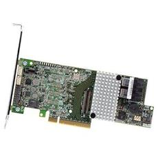 RS3DC040, SAS, SAS II, SATA, Seriale ATA II, Serial ATA III, PCI Express x8, Full-height (low-profile) , 0, 1, 5, 6, 10, 50, 60, 1024 MB, DDR3