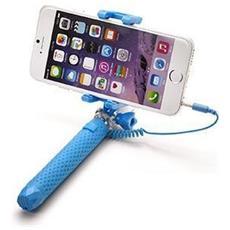 """Mini Selfie Stick compatibile con smartphone fino a 5.5"""" per una lunghezza massima di 70cm - Blu"""