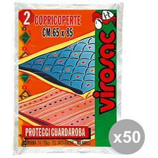 Set 50 Copricoperte 65x85 Cm. X 2 Pezzi Riordino