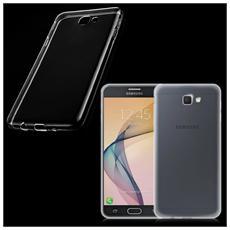 Custodia Cover Back Case Ultra Sottile In Morbida Tpu Trasparente Per Samsung Galaxy J7 Prime Sm-g610f + Pellicola Protettiva + Pannetto Pulisci Schermo