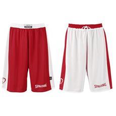 Pantaloncino Basket Reversibile Rosso / bianco Adulto Taglia Xl