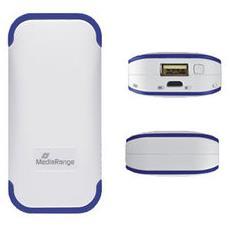 MR741, Ioni di Litio, USB, Blu, Bianco, USB, Smartphone, Tablet, Micro-USB