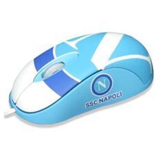 TECHMADE - Mini Mouse Usb Ssc Napoli 800 Dpi Bianc