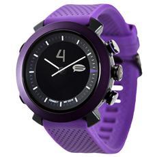 Smartwatch Classic in Silicone Impermeabile 10ATM Bluetooth per Android e iOS Viola - Italia