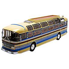 Nv530013 Saviem S53m 1970 Cream With Red & Blue Stripes 1:43 Modellino