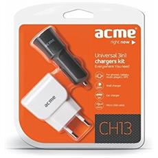 CH13 Kit incl. Car + Wall Charger and Micro USB Cable