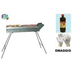 Barbecue Bistecchiera Griglia Focone Cuoci Arrosticini Salsicce In Ferro C 110cm