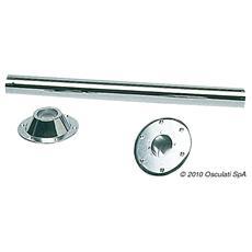 Gamba tavolo inox 700 mm acciaio a specchio