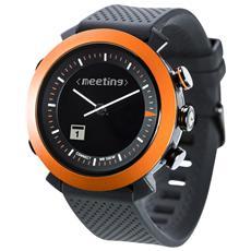 Smartwatch Classic in Silicone Impermeabile 10ATM Bluetooth per Android e iOS Arancione - Italia