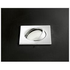 Faretto da Incasso Orientabile in Alluminio Bianco