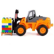 Wader Set Costruzioni Carrello Elevatore 49x22x23 Cm Arancione 1450574