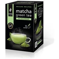 Matcha Green Tea Da Zuccherare - 1 Confezione Da 10 Bustine Solubili (10 Bustine, 10 Tazze)