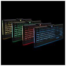 Tastiera AROKH K-2 Retroilluminata Interfaccia USB Colore Nero Layout Inglese UK