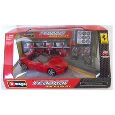 DieCast 1:32 Auto Ferrari California Cabrio + 6Accessori Race Play 44020