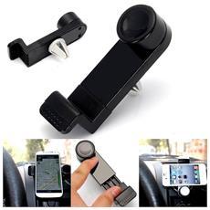 Porta cellulare da auto per bocchette aria universale Smartphone e GPS - Nero