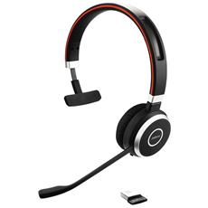 Cuffie Wireless EVOLVE 65 UC Mono Bluetooth Colore Nero