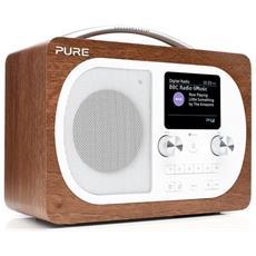 Radio Vl-62971. Evoke H4 Offre A Tutta La Famiglia Un'esperienza Di Ascolto Straordinaria Della Musica Tramite Blutooth E Da Radio Digitale - Evoke H4 Walnut