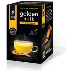Golden Milk Da Zuccherare - 1 Confezione Da 10 Bustine Solubili (10 Bustine, 10 Tazze)