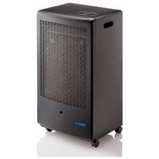 Stufa a Gas Pratica Potenza 3100 Watt 80 m3 riscaldabili Colore Nero