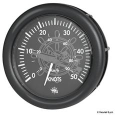 Spidometro 0-50 nodi 12 V nero