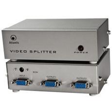 ATLANTIS SPLIT VGA 2 PORTE, MAX: 1920x1440, FREQ 250MHZ, FINO A 30MT