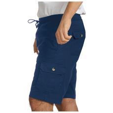 Pantalone Corto Bermuda In Cotone Colore Blu Taglia Xl