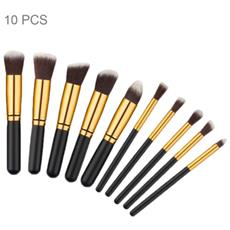 Pennelli Professionali Trucco Set 10 Pz Make Up Makeup Brushes Donna