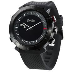 Smartwatch Classic in Silicone Impermeabile 10ATM Bluetooth per Android e iOS Nero - Italia