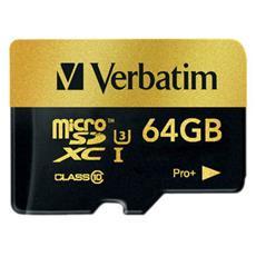 Pro+ Micro SDXC 64GB, 64 GB, Micro Secure Digital High-Capacity (MicroSDHC) , 90 MB / s, Nero, Resistente agli urti, Resistente all'acqua, SD