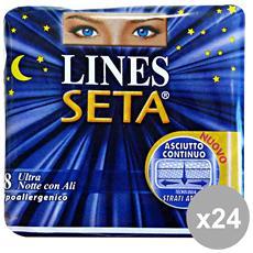 Set 24 Ultra Notte Ali X 8 Pezzi Cura Del Corpo