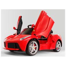 Auto Elettrica La Ferrari Rossa Con Luci, Suoni E Telecomando 12 Volt 01816001