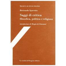 Saggi di critica filosofica, politica e religiosa