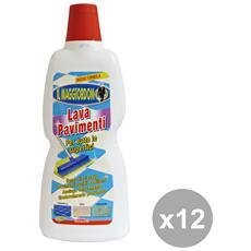Set 12 Pavimenti Multisuperfice 1 Lt. Deterge