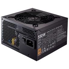 Alimentatore Serie MWE 550 Watt Cablato ATX Certificazione 80 Plus Bronze