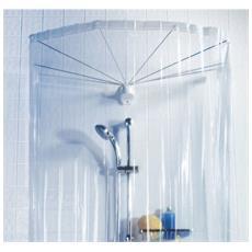 Set Sospensione Ad Ombrello 8 Braccia Con Tenda Trasparente Per Vasca Da Bagno - Ombrella 10.04436