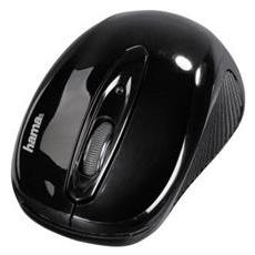 Mouse Wireless AM7700 Ottico 1000 dpi Nero Lucido