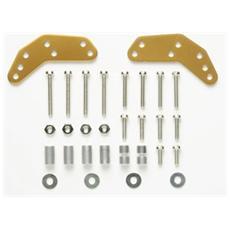 Supporti esterni rotelle alluminio Oro