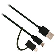 Apple MFi Certificato + Micro USB cavo Dati / Ricarica 1.0 mt